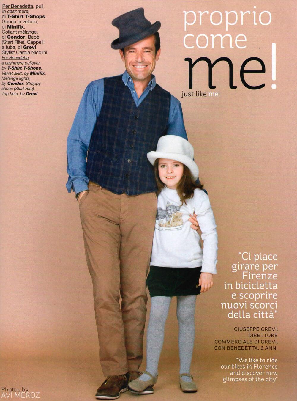 Vogue Bambini - 2011 - Giuseppe e Benedetta Grevi - cappelli a tuba Grevi