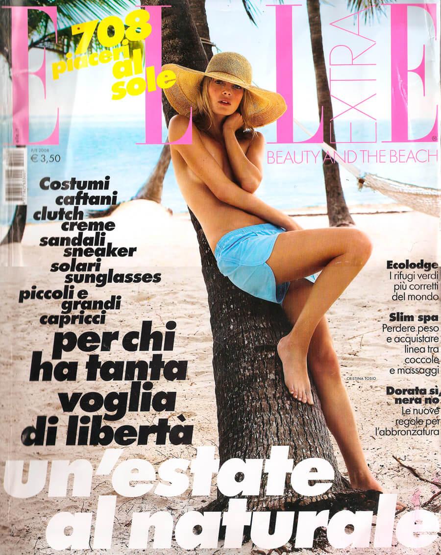 Elle primavera estate 2008 cover - cappello Paglia Grevi