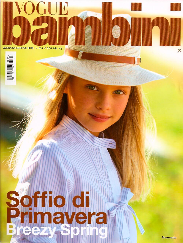 Vogue Bambini cover - gennaio 2010 - cappello Grevi