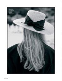 Michela Strate with Grevi summer hat for ELLE Turkey July 2018 by Hasan Karaarslan