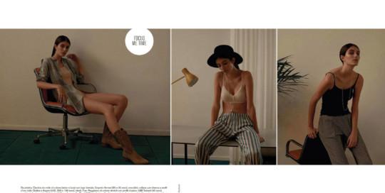 D la Repubblica novembre 2018 - Giorni a nudo - a cura di Rachele Bagnato e Chiara Tronville. Foto di Fabrizio Martinelli. Cappello Grevi.