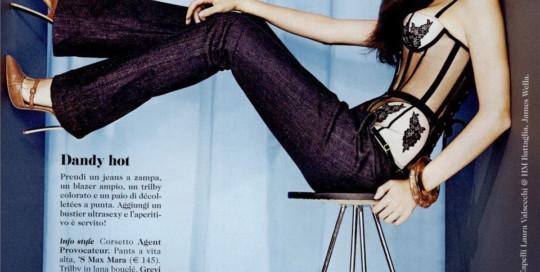 Cosmopolitan, novembre 2013, trilby in lana buclè Grevi