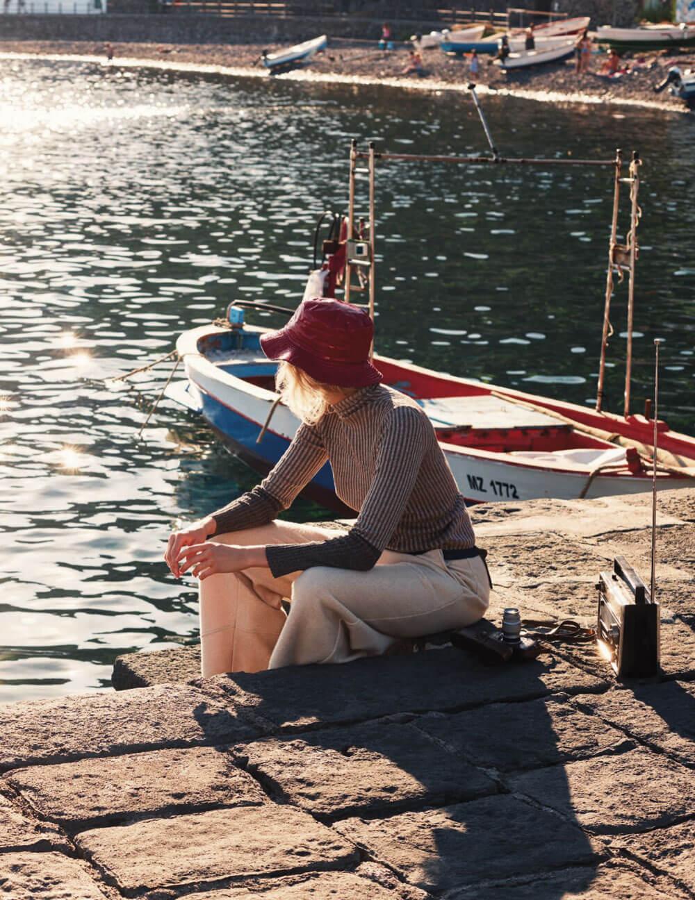 ELLE Italia - cappello da pioggia reversibile Grevi